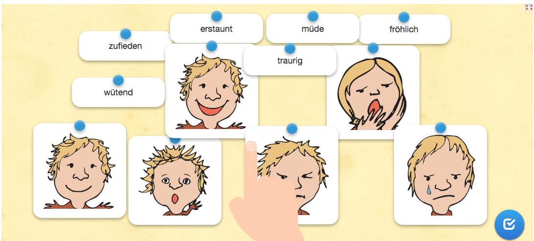 Wortschatzarbeit: Gefühle/Gesichtsausdrücke – landeskunde
