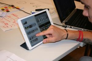 iPad im Einsatz