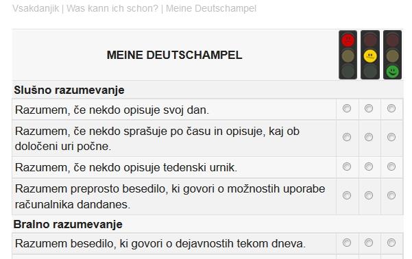 Meine Deutschampel